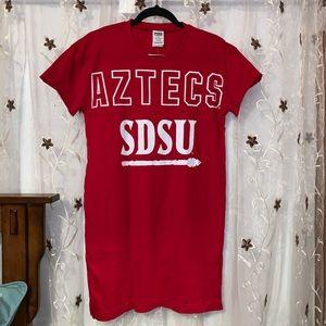 PINK SDSU Aztecs Sleep Shirt - NWT
